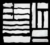 Papel de papel y rasgado rasgado Imagen de archivo libre de regalías