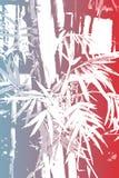 Papel de parede abstrato asiático de bambu do fundo ilustração do vetor