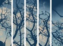Papel de parede abstrato da árvore ilustração do vetor