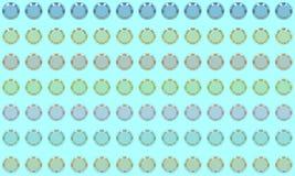 Papel de parede abstrato da ilustração dos bulbos 3D ilustração stock