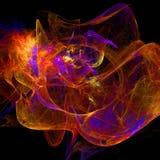 Papel de parede abstrato do fractal com diferente e muitas formas Imagens de Stock