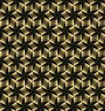 Papel de parede abstrato do teste padrão da cor do ouro Imagem de Stock Royalty Free
