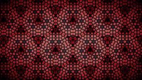 Papel de parede abstrato do teste padrão da cor vermelha da flor Fotografia de Stock Royalty Free
