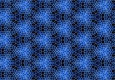 Papel de parede abstrato do teste padrão do bloco do preto azul Imagens de Stock Royalty Free