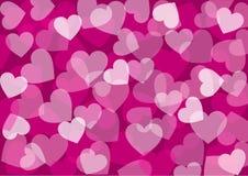 Papel de parede abstrato dos corações - Fotografia de Stock