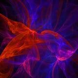 Papel de parede abstrato escuro e colorido do fractal com diferente e muitas formas imagem de stock