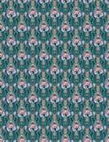 Papel de parede abstrato floral de Art Nouveau em cores do pêssego e da cerceta Fotos de Stock