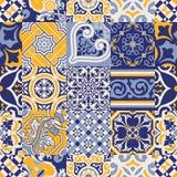 Papel de parede abstrato verificado telhas de Azulejos Foto de Stock Royalty Free