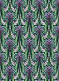Papel de parede adiantado do estilo de Art Deco no roxo e no verde Foto de Stock Royalty Free