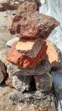 papel de parede amarelo de pedra da natureza Foto de Stock