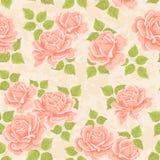 Papel de parede artístico da rosa ilustração royalty free