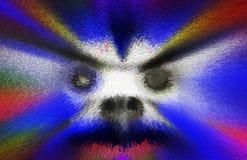 Papel de parede assustador do horror, cara de Ghost ilustração do vetor