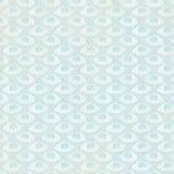 Papel de parede azul da repetição do fundo do ventilador do vintage Fotografia de Stock