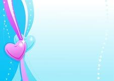 Papel de parede azul do Valentim Fotografia de Stock Royalty Free
