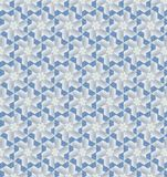 Papel de parede azul e branco abstrato do teste padrão da cor Imagens de Stock