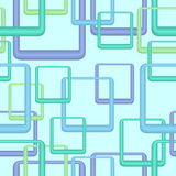 Papel de parede azul retro sem emenda Fotografia de Stock