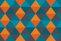 Papel de parede azul velho alaranjado do triângulo da bandeira da textura abstrata do fundo moderno Ilustração Stock
