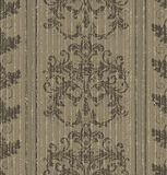 Papel de parede barroco velho sem emenda ilustração stock