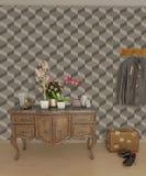 Papel de parede cúbico da casa do salão de entrada Imagem de Stock