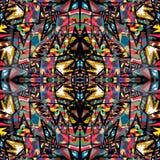 Papel de parede colorido da fantasia teste padrão geométrico Ilustração do Vetor