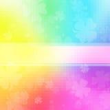 Papel de parede colorido do trevo Foto de Stock Royalty Free