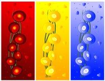 Papel de parede colorido do Valentim com luzes e coração Fotografia de Stock