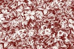 Papel de parede com flores ilustração royalty free