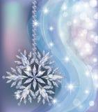 Papel de parede congelado elegante do ano novo com floco de neve do diamante ilustração stock
