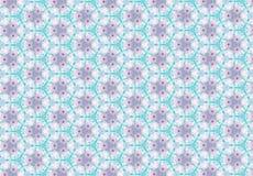 Papel de parede cor-de-rosa azul abstrato do teste padrão de flor Imagens de Stock Royalty Free