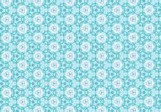 Papel de parede cor-de-rosa azul abstrato do teste padrão de flor Imagens de Stock