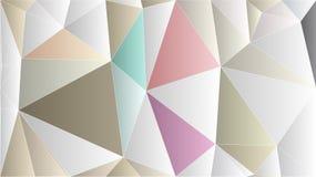 Papel de parede cor-de-rosa exclusivo do ouro do polígono abstrato Imagens de Stock