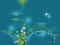 Papel de parede da água Ilustração Royalty Free