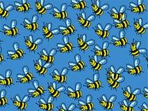 Papel de parede da abelha ilustração do vetor