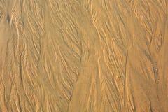 Papel de parede da areia do mar Foto de Stock Royalty Free