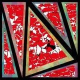Papel de parede da cor dos triângulos do fundo da geometria Ilustração Stock