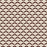 Papel de parede da escala de peixes Ornamento tradicional asiático com vieiras repetidas Motivo do fã da mão Teste padrão sem eme ilustração royalty free