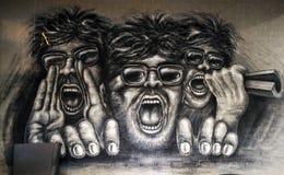 Papel de parede da gritaria dos povos imagens de stock