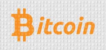 Papel de parede da inscrição de Bitcoin Fotografia de Stock Royalty Free