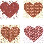 Papel de parede da mola com corações Fundo foto de stock royalty free