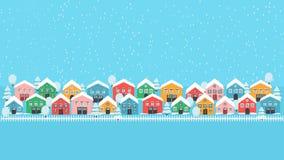 Papel de parede da pista da cidade do inverno ilustração royalty free