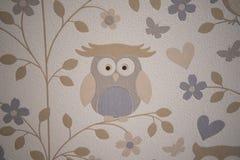 Papel de parede das corujas foto de stock