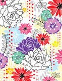 Papel de parede das flores Fotos de Stock