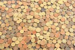 Papel de parede das moedas Fotografia de Stock Royalty Free