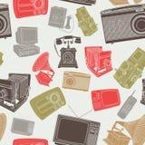 Papel de parede de artigos eletrônicos velhos Fotografia de Stock