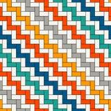 Papel de parede de bloqueio retangular dos blocos Fundo do parquet Projeto de superfície sem emenda do teste padrão com retângulo ilustração royalty free