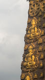 Papel de parede de buddha na parede do templo, Banguecoque Tailândia Imagens de Stock