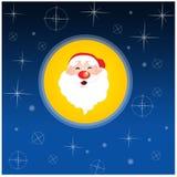 Papel de parede de Papai Noel Ilustração Stock
