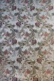 Papel de parede de seda velho com testes padrões florais Fotografia de Stock