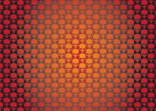 Papel de parede de Skullz Imagem de Stock
