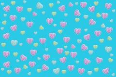 Papel de parede de turquesa com corações Fotos de Stock